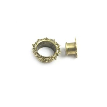 GOLD BRASS FLESH TUNNEL 01